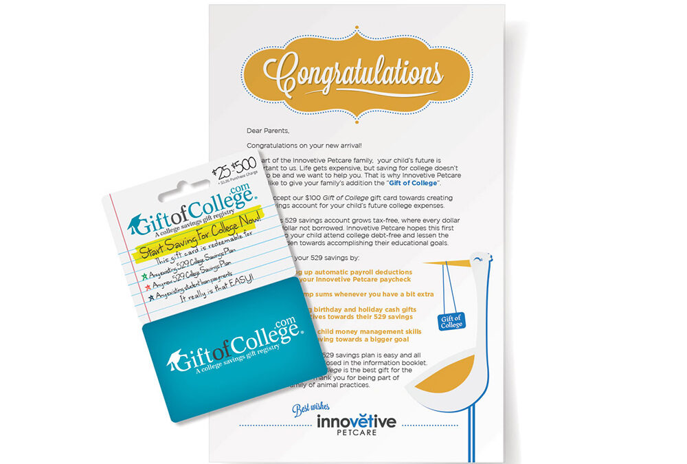 Innovetive Petcare Enters Innovative New Partnership With GiftofCollege.com